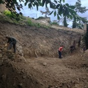 oprava ohradového múru, situácia po očistení