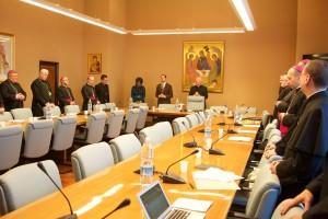 Ad limina 2015, prijatie: Papezska rada pre laikov