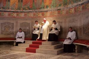Ad limina 2015: Slavnostne vespery v Bazilike sv. Klementa