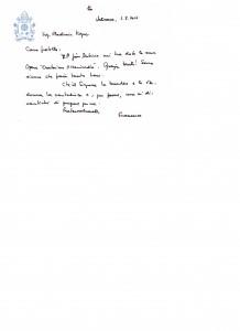 list od pápeža