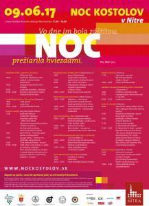 Noc kostolov Nitra 2017 plagat