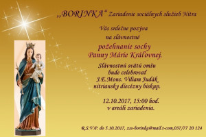 Pozvánka 2 Požehnanie sochy panny márie